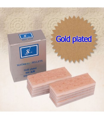Press Magnets 800 Gauss - Gold plate 100 Pcs.